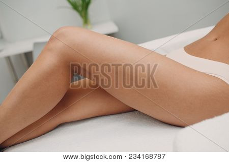 Laser Epilation And Cosmetology. Hair Removal Cosmetology Procedure. Laser Epilation And Cosmetology