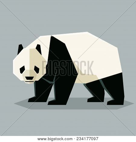 Vector Image Of The Flat Geometric Giant Panda