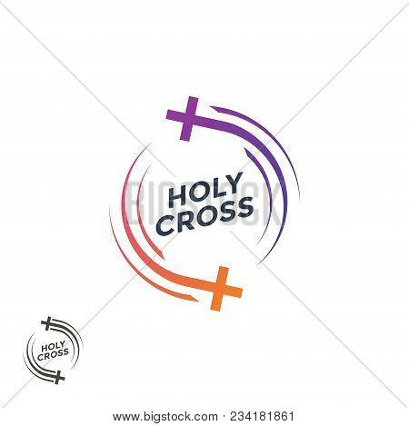 Church Logo. . The Holy Cross Christian Logo. Vector Illustration