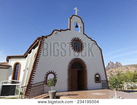 San Carlos, Mexico, March 13. St. Borremeo Catholic Church On March 13, 2018, In San Carlos, Mexico.