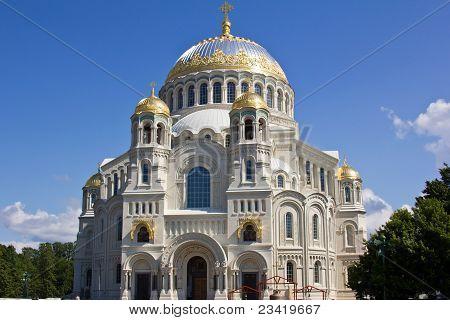 Naval Cathedral Of Saint Nicholas In Kronstadt, Russia