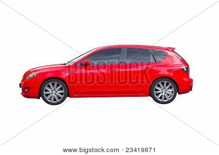 Red Car Isolated On White