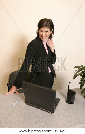 Headset Worker Woman