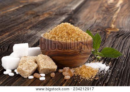 Various Types Of Sugar, Brown Sugar, White Sugar, Crystal Sugar, Artificial Sweetener, Cane Sugar An