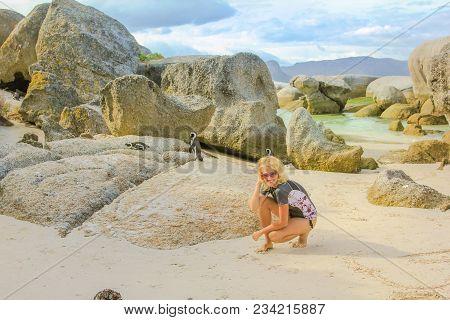 Woman At Boulder Beach
