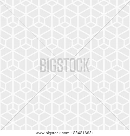 Abstract Seamless Pattern. Modern Stylish Texture. Repeating Geometric Hexagonal Grid. Simple Graphi