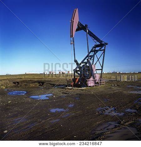 Extraction Pump In An Oil Field, Patagonia, Argentina