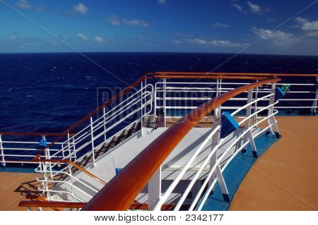 View From Top Cruise Ship Deck