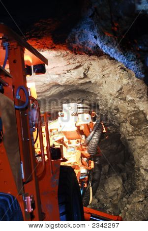Mine Machine Inside The Gold Mine