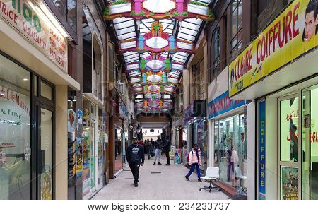 Paris, France-march 24, 2018 : Passage Du Prado Is Unlike Any Other Arcade Frequented By Tourists, W