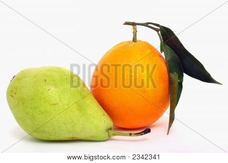 Fresh Orange And Pear