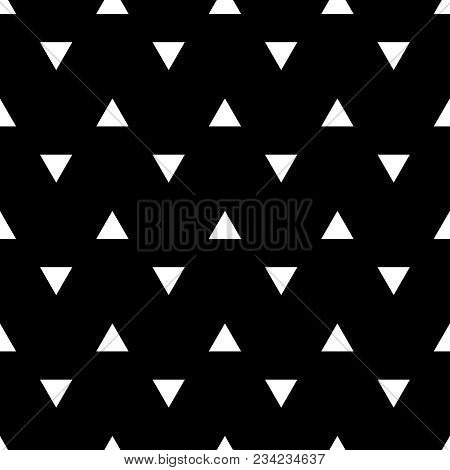 Tile Vector Pattern With White Triangles On Black Background