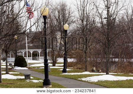 River Walk Park Near The Concord River