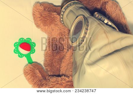 A Toy In A Gas Mask As A Concept For Protecting Children From The Use Of Gas Weapons, Environmental