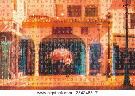 Reflection. Reflection In The Shop Window. Puerto Banus, Marbella, Malaga, Costa Del Sol, Spain. Pic
