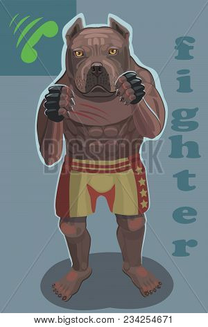Dog Fighter He Protects And Attacks His Enemies Is A Screensaver On Your Mobile Phone Who Is Calling