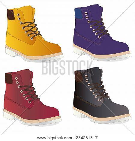 Men Shoes Illustration Isolated