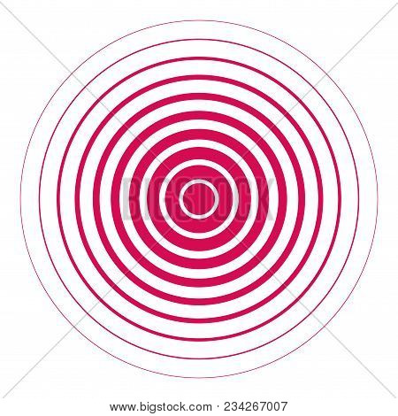 Abstract Background With Red Radial Circle. Vector