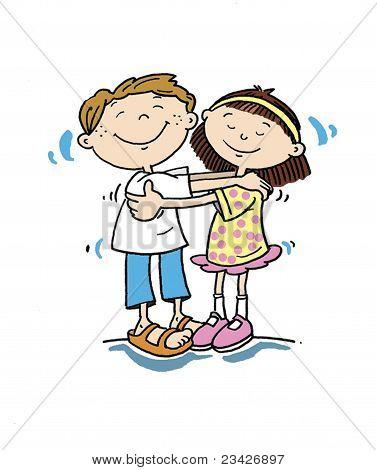 Boy & Girl Hugging.eps