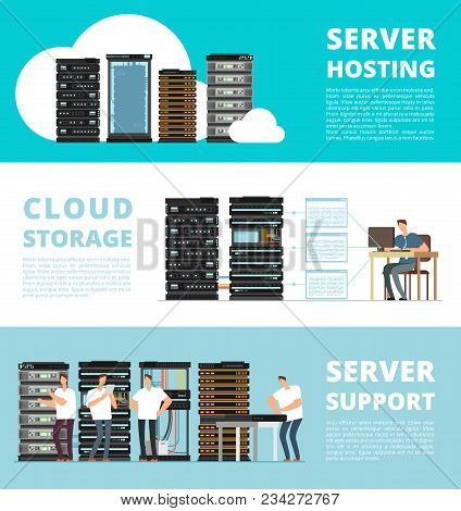 Hardware Server System And Network Administration. Data Storage Engineering Service. Vector Hosting