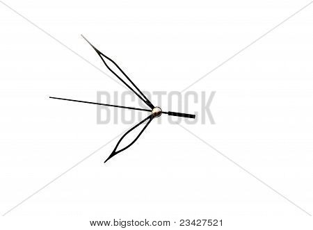 Time arrow isolated on a white background poster