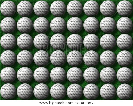 Rows Of Golf Balls