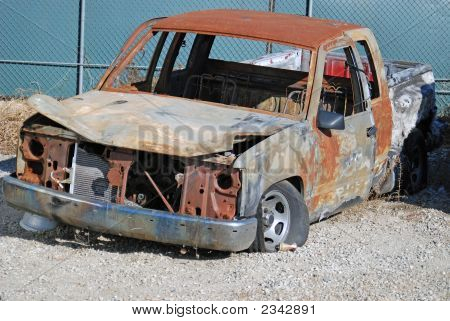 Burnt Pickup Truck