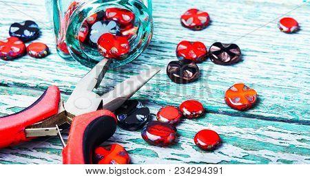 Set Glass Beads