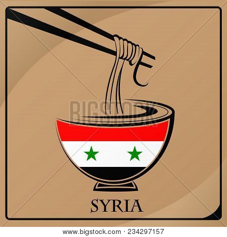 Noodle Logo Made From The Flag Of Syria