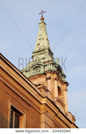 Academic Church of the Holy Spirit in Torun, Poland. It was built in the mid-eighteenth century.