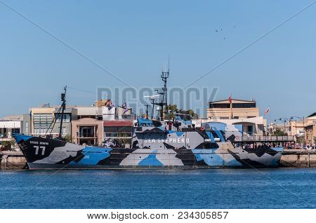 Adelaide, Au - March 31, 2018: Mv Steve Irwin, Flagship Of The Sea Shepherd Conservation Society, Mo