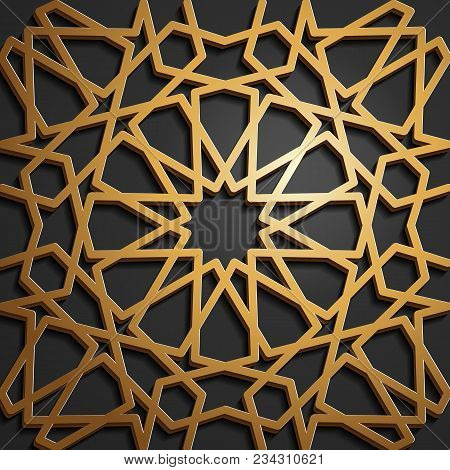 Set Of Islamic Oriental Patterns, Seamless Arabic Geometric Ornament Collection. Vector Traditional