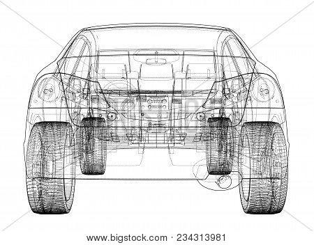 Concept car blueprint 3d image photo bigstock concept car blueprint 3d illustration wire frame style malvernweather Images
