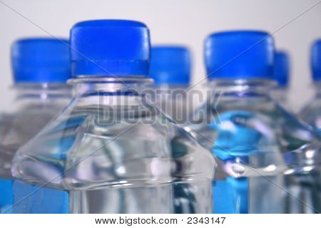 Group Of Square Water Bottles