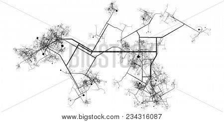 Transport System of a City Growing and Expanding