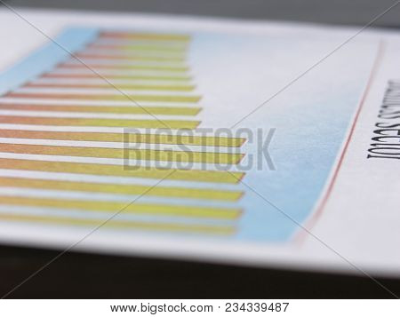 Close Up. Blurred Image Of Financial Chart.business Background.