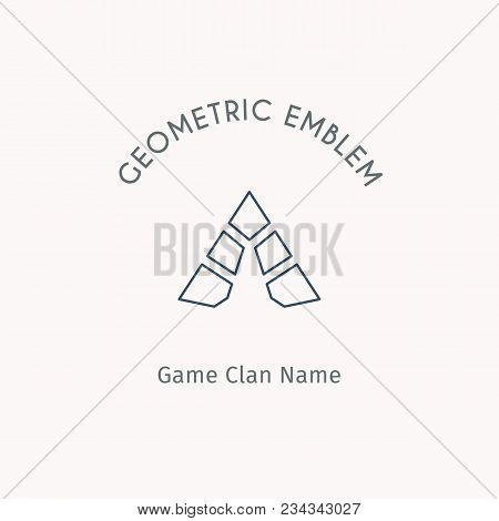 Geometric Logo Template. Vector Linear Modern Symbol For Alternative Or Extreme Sport Teams And Crew