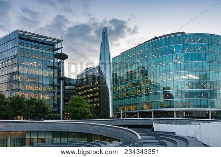 Tooley Street,london-september 6,2017: Buildings On Place Called More London On The South Bank Of Ri