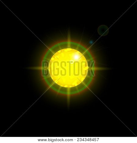Sun Object. Abstract Sun Background For Design. Stock Vector