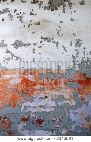 Old Wall Of Peeling Paint