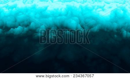 Ice Abstract. Smoke Background. Blue Fog. Turquoise. Color Explosion. Abstact Wallpaper. Fractal. Di