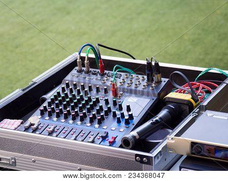 Sound Mixer Control Panel, Buttons Equipment For Sound Mixer Control, Sound Mixer Control For Live M
