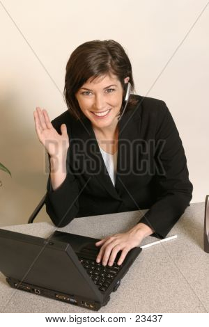 Office Personal Using Headset