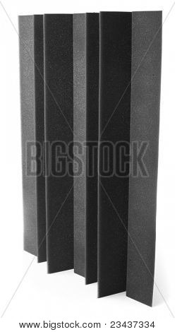 acoustic foam isolated on a white background