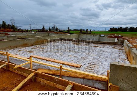 Foundations For Fame House. House Foundation Type. New Home Under Construction Foundation