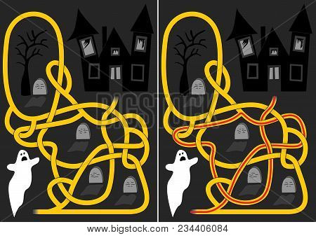 Graveyard Maze For Kids With A Solution