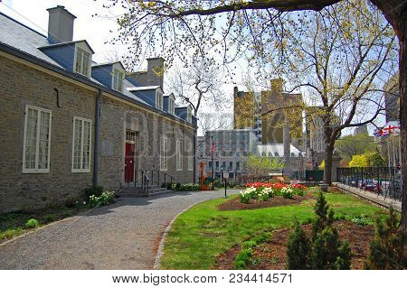 Chateau Ramezay Is An Historic Building Built In 1705 In Old Montreal On The Opposite Of Montreal Ci