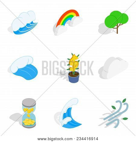 Environmentally Sustainable Icons Set. Isometric Set Of 9 Environmentally Sustainable Vector Icons F