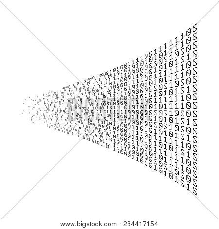 Binary Code Digital Technology. Data Sorting. From Chaos To System. Artificial Intelligence.big Data