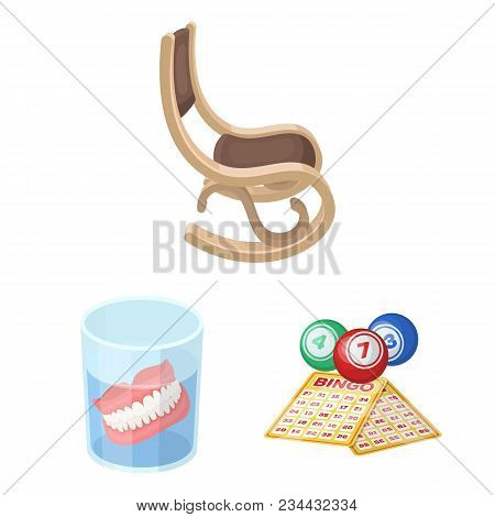 Human Old Age Cartoon Icons In Set Collection For Design. Pensioner, Period Of Life Vector Symbol St